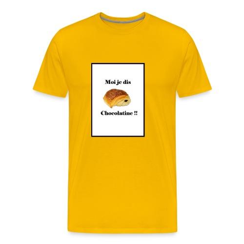 moi je dis chocolatine - T-shirt Premium Homme
