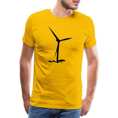 Windturbine - Männer Premium T-Shirt
