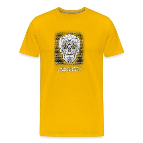 skull black trans 2 jpg - Mannen Premium T-shirt