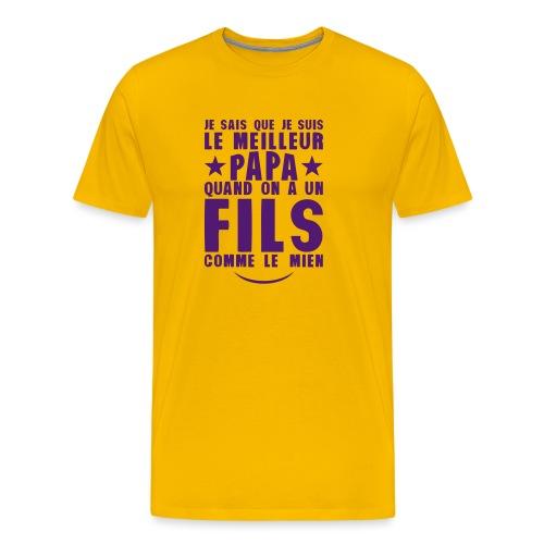 meilleur papa fils comme le mien citatio - T-shirt Premium Homme