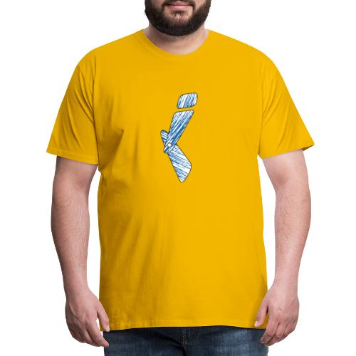 letter I blue - Men's Premium T-Shirt