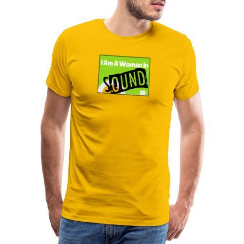 I am a woman in sound - Men's Premium T-Shirt