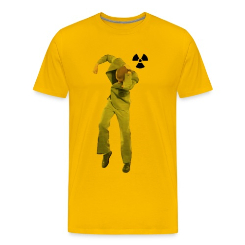 TJERNOBYL GUL - Premium-T-shirt herr
