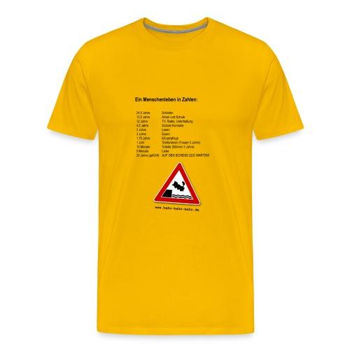 Menschenleben in Zahlen - Männer Premium T-Shirt