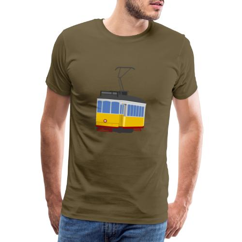 Tram car yellow - Men's Premium T-Shirt