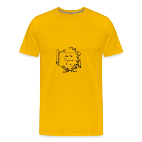 mug humour smile dream live - T-shirt Premium Homme