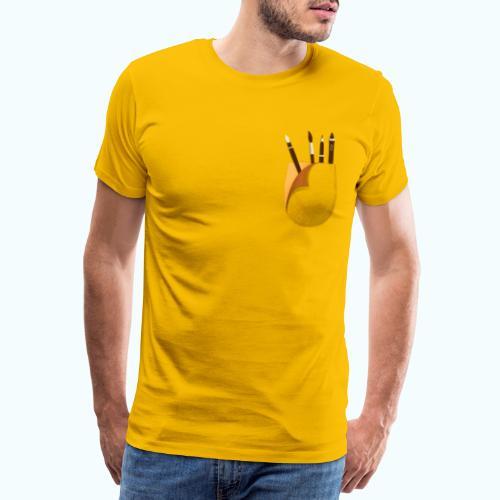 Artist printed breast pocket 3D - Men's Premium T-Shirt