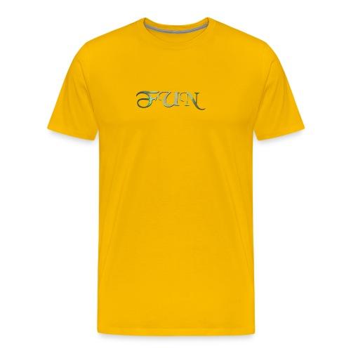Fun geschwungene Schrift - Männer Premium T-Shirt