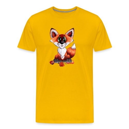 llwynogyn - a little red fox - Herre premium T-shirt