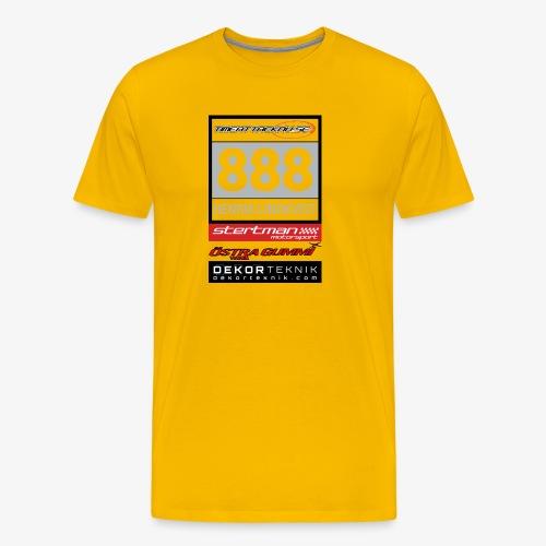 Startnummer 888 HL - Premium-T-shirt herr