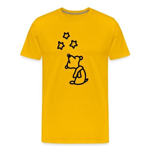 Bär - Sterne gucken - Männer Premium T-Shirt