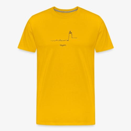 Skyline - Mannen Premium T-shirt