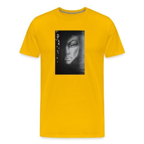 The girl in the sadow - Premium-T-shirt herr