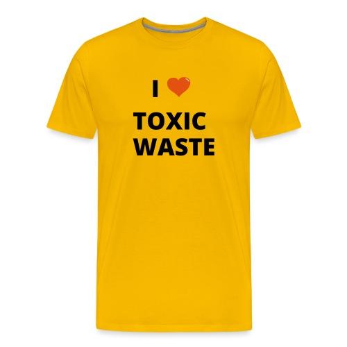 real genius i heart toxic waste - Men's Premium T-Shirt