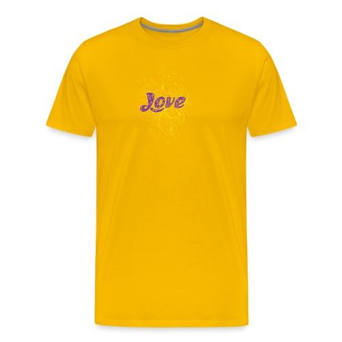 LOVE VIOLA CON DECORI - Maglietta Premium da uomo