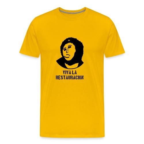 Monkey Chésus - Male - with text - Men's Premium T-Shirt