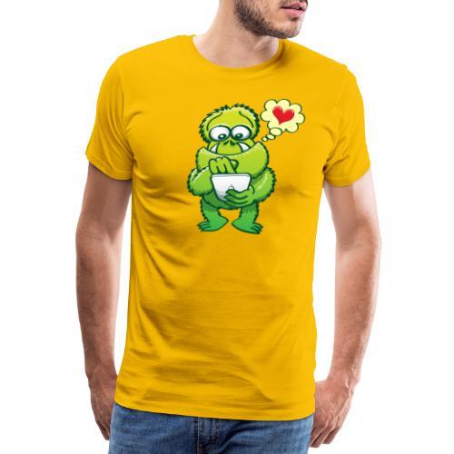 Ugly monster seeking love on the Internet - Men's Premium T-Shirt