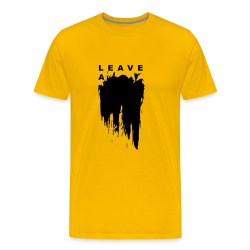 Leave a mark vector - Men's Premium T-Shirt