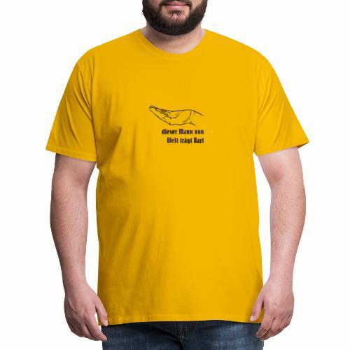 Dieser Mann von Welt trägt Bart - Männer Premium T-Shirt