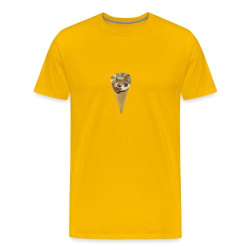 Low-poly_Ice_Cream - Mannen Premium T-shirt