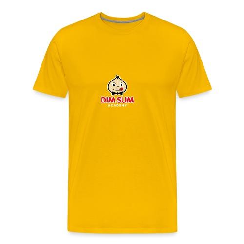 Dim Sum Academy Logo blanc - T-shirt Premium Homme