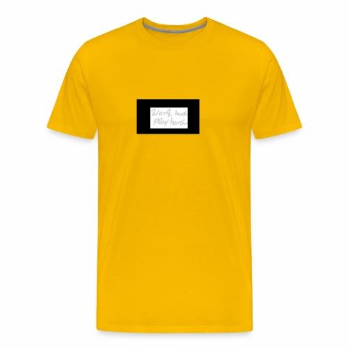 Work hart Play hard - Männer Premium T-Shirt