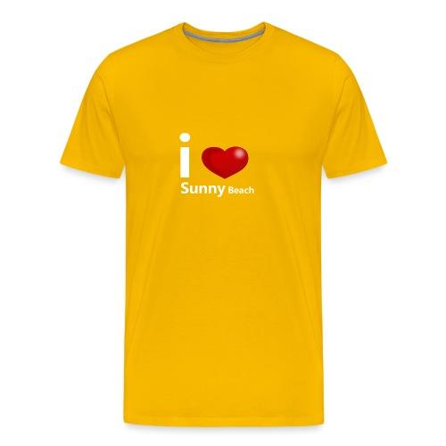 I love Sunny Beach 2 (white print) - Mannen Premium T-shirt