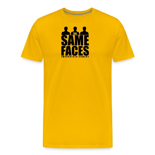 Same Faces Logo - Black - Men's Premium T-Shirt