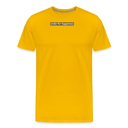 smile for happiness - Premium-T-shirt herr
