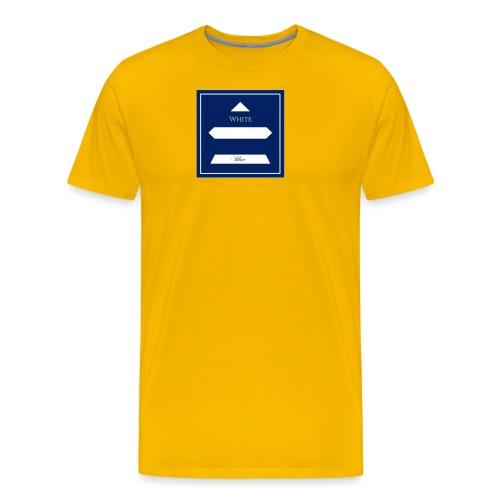 White Blue - T-shirt Premium Homme