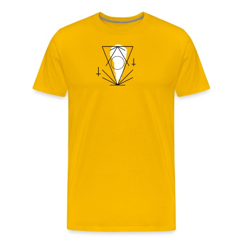 Geo-oddity_line_whiteout - Men's Premium T-Shirt