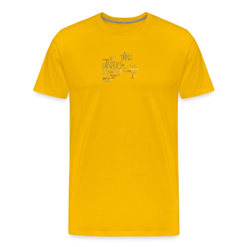 1a ta wordle grau transparent - Männer Premium T-Shirt