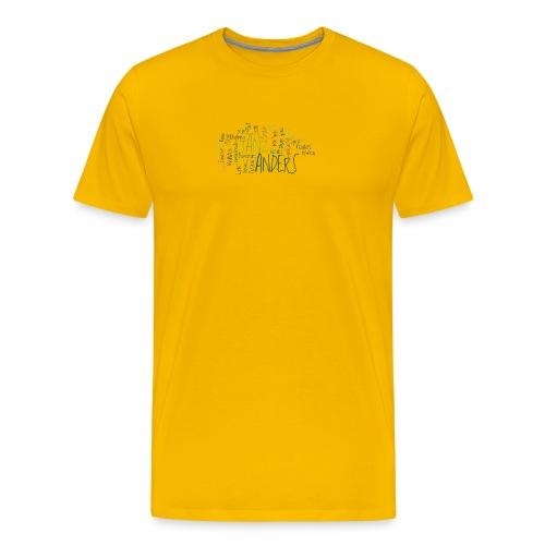 1a ta wordle gruen transparent - Männer Premium T-Shirt