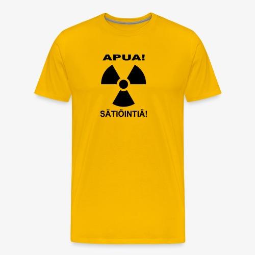APUA! SÄTIÖINTIÄ! - Miesten premium t-paita