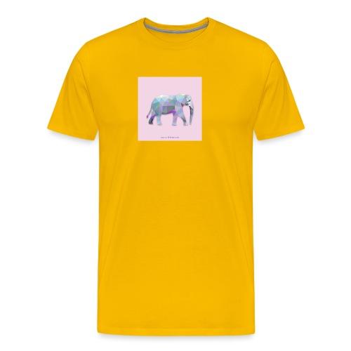 Elefante Intero triangoli - Maglietta Premium da uomo