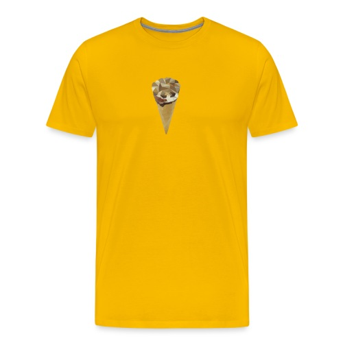 Low-poly_Ice_Cream - Mannen Premium T-shirt