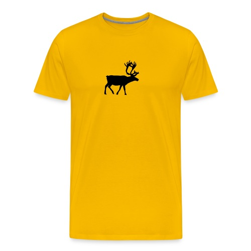 16593-illustrated-silhouette-of-a-reindeer-pv - Premium-T-shirt herr
