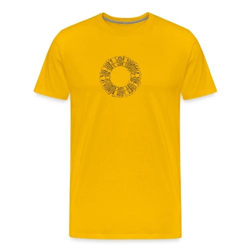 calligrafia-nera - Maglietta Premium da uomo