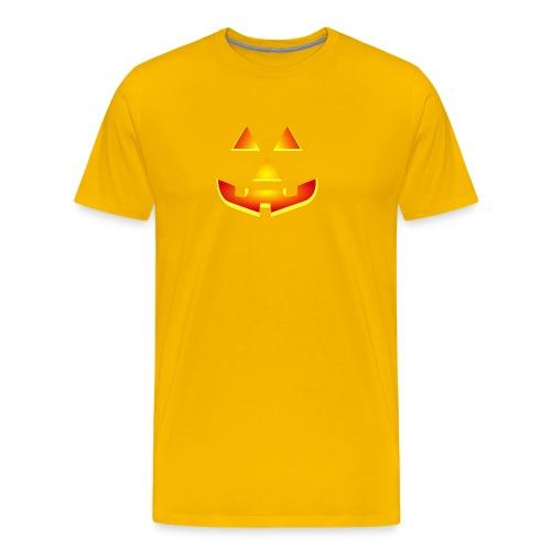 Smiling pumpkin - T Shirt, Halloween, Scary Face - Men's Premium T-Shirt