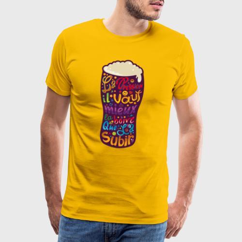 Bière pression typographies colorées - T-shirt Premium Homme