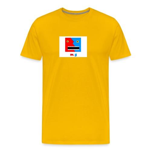button cool monster gamer - Premium T-skjorte for menn