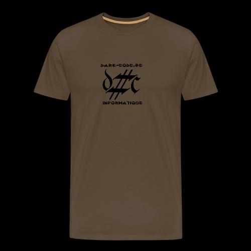 Dark-Code Black Gothic Logo - T-shirt Premium Homme