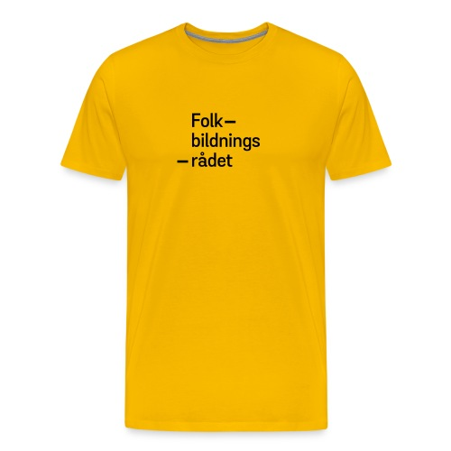 fbr_logo_SV - Premium-T-shirt herr