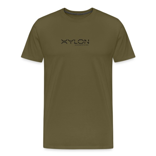 Xylon Handcrafted Guitars (plain logo in black) - Men's Premium T-Shirt