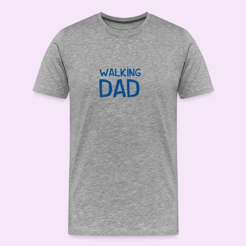 Vierdaagse Nijmegen - Walking Dad BLUE - Mannen Premium T-shirt