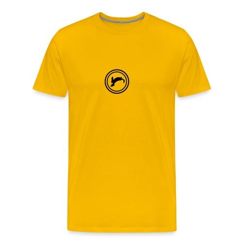 Bunny_Black2 - Herre premium T-shirt