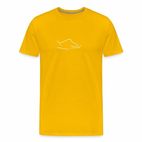 Hvit rektangulær logo - Premium T-skjorte for menn