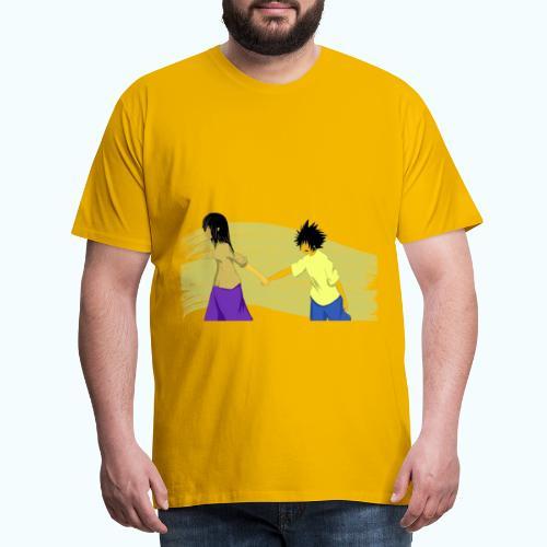 WHERE? Real drawing - Men's Premium T-Shirt