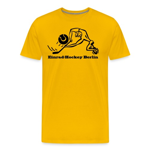 Einradhockey Backhand - Männer Premium T-Shirt