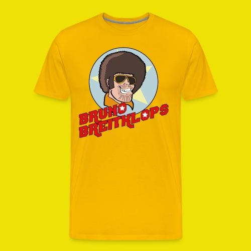 BrunoUndSchriftzug 30cm Kontur3mm png - Männer Premium T-Shirt